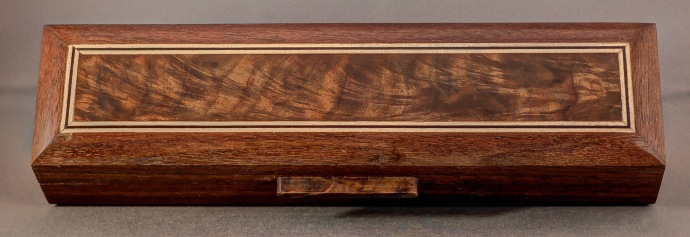 A handcrafted Black Walnut pen box made by our box maker in the USA.